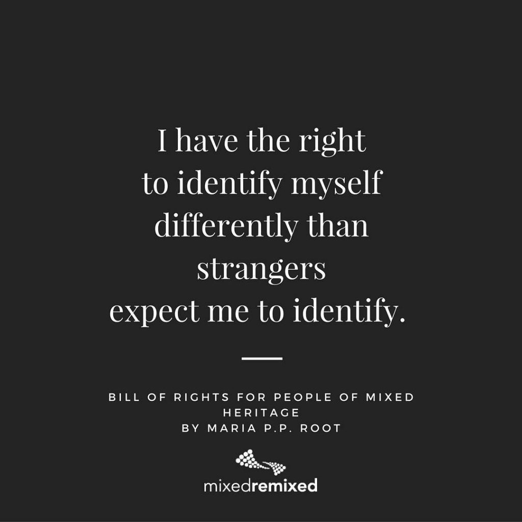 I have the right to identify myself differently than strangershellip