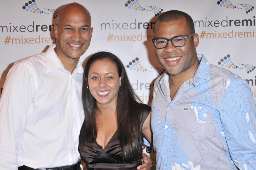Keegan-Michael Key, Festival Founder Heidi Durrow, Jordan Peele