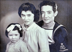 Connie and Leslie Hoe, both mixed race Chinese, with their daughter Christine, pictured in 1946 BBC