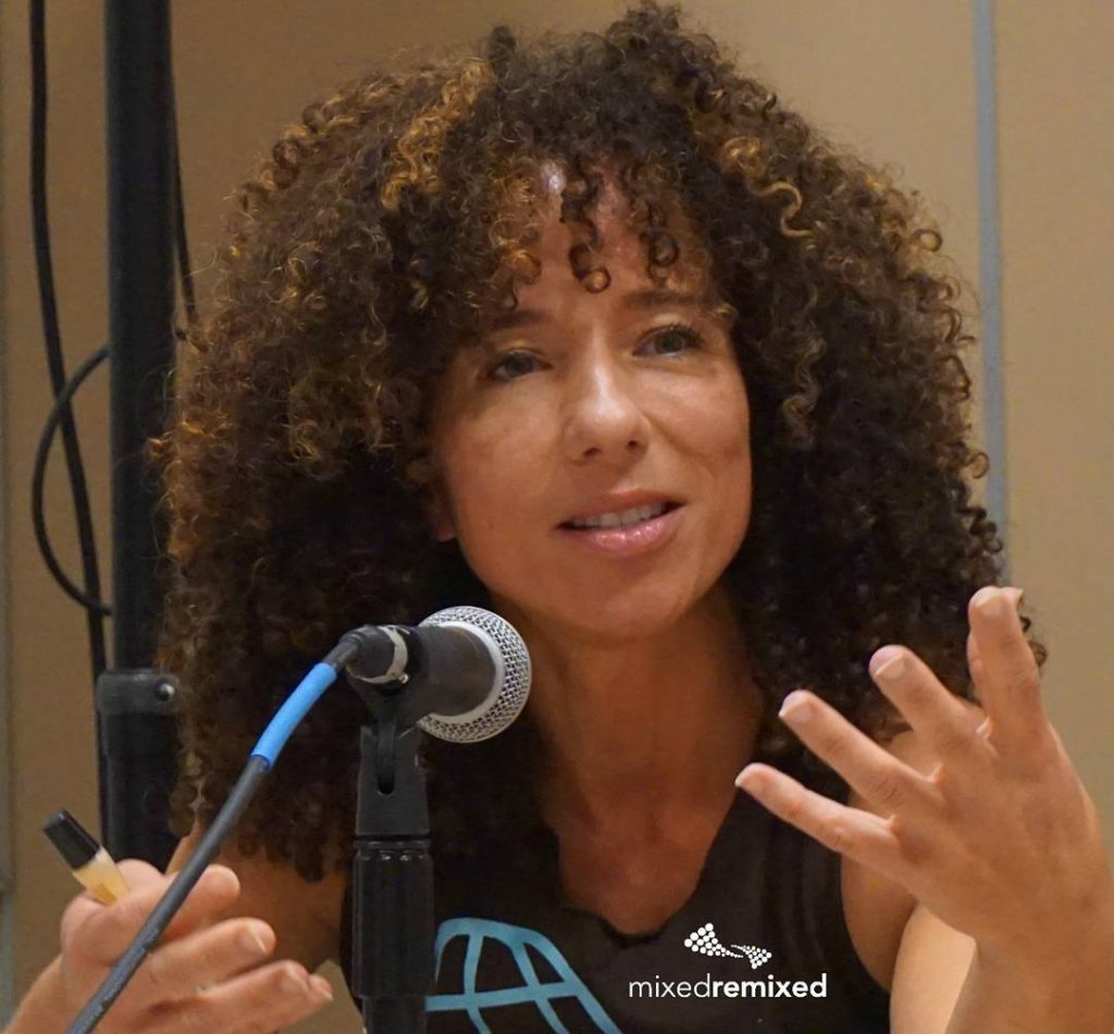 The lovely fitwit3 talks about parenting at the Festival multiracialhellip