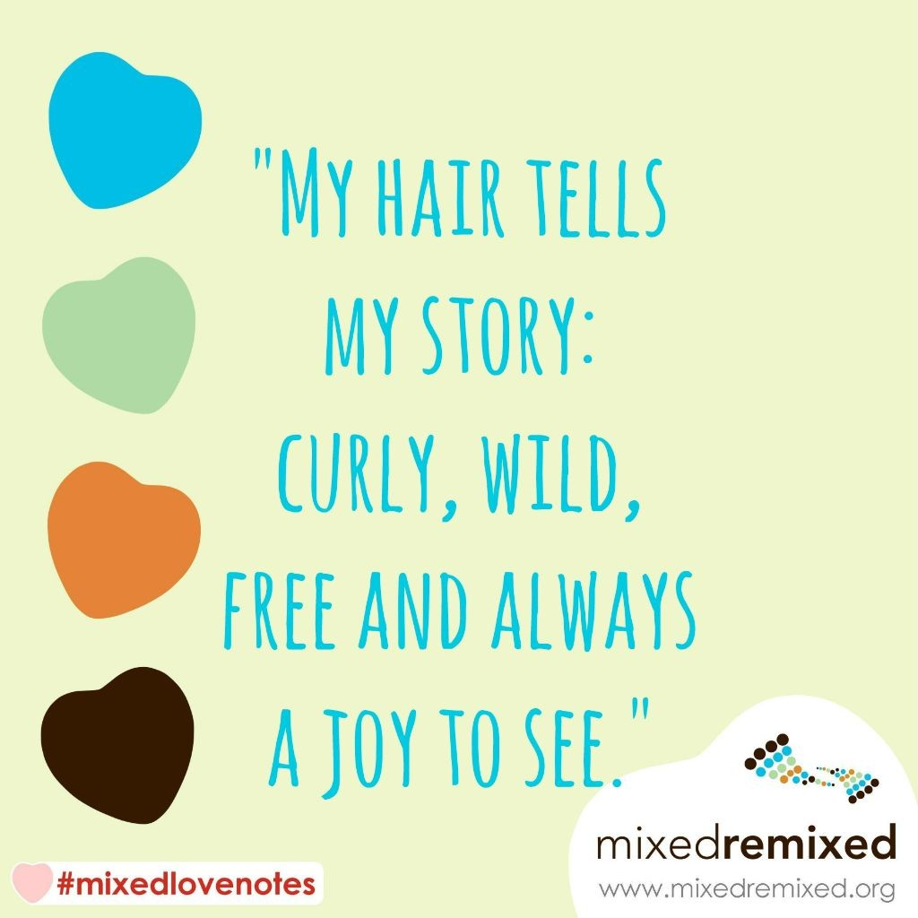 mixed people affirmations naturally curly hair love