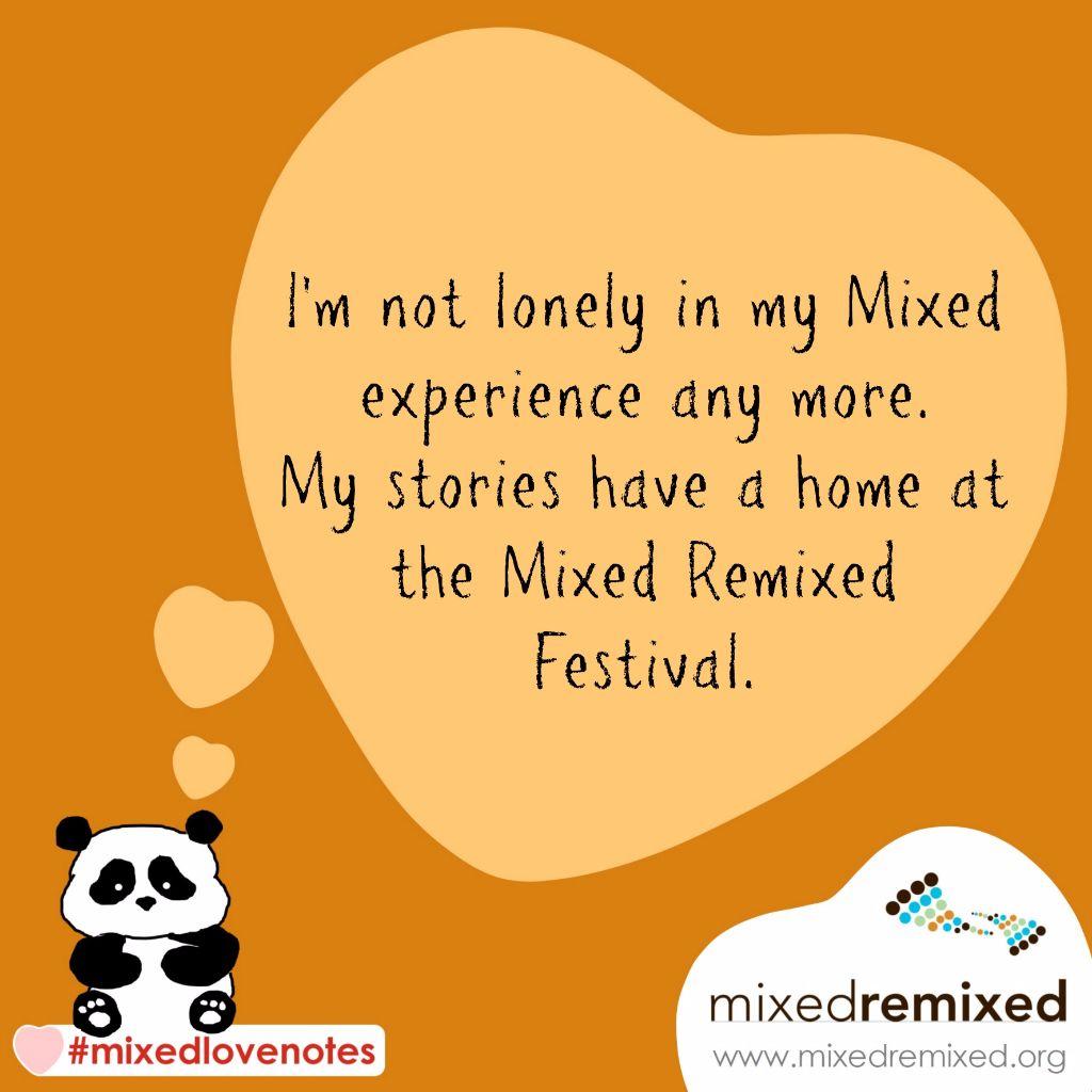 Mixed Remixed - Love Notes - 2016 - thinking panda - orange TEXT
