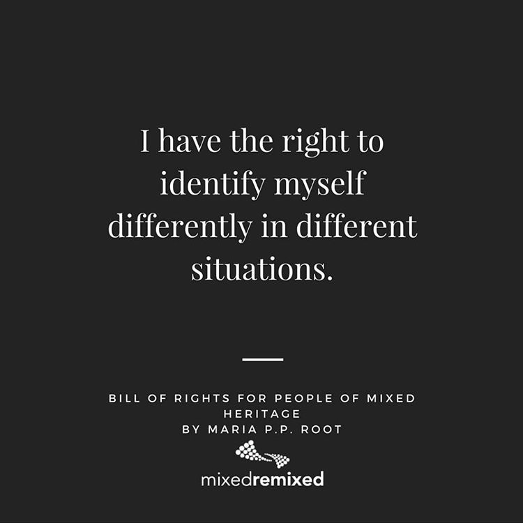 I have the right to identify myself differently in differenthellip
