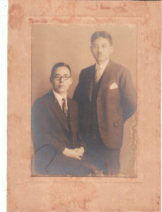 "My grandfather, ""Francis"" on the left and my great-grandfather on the right: circa 1913."