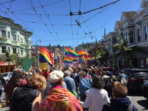 March to commemorate Orlando, Castro district, San Francisco